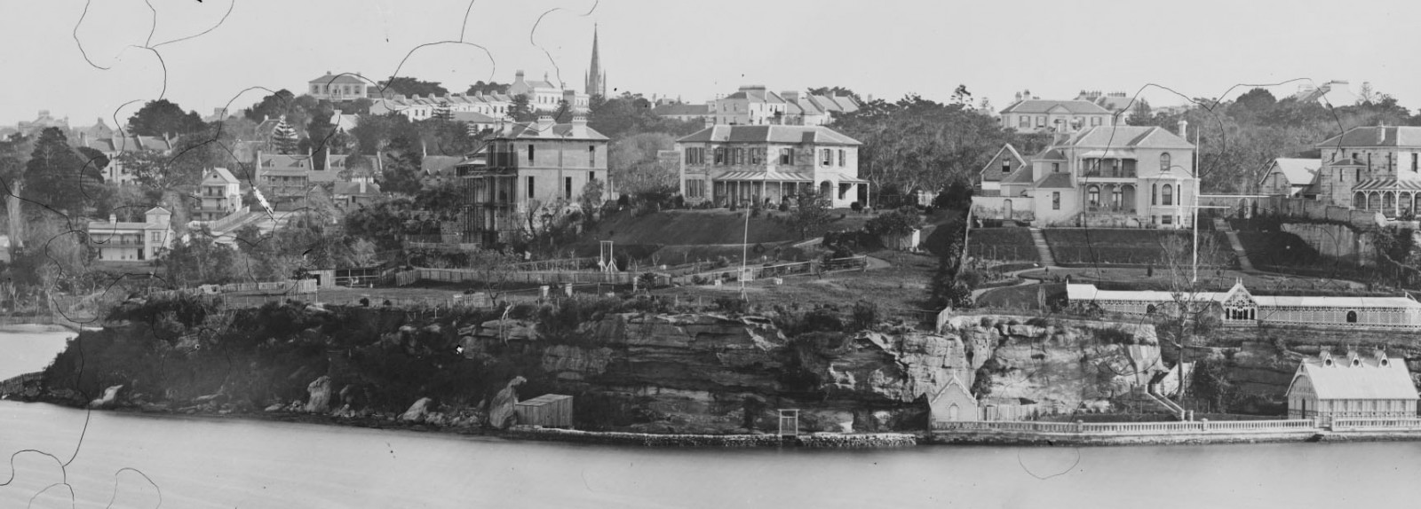 The grand Kincoppal residence (left) in 1875