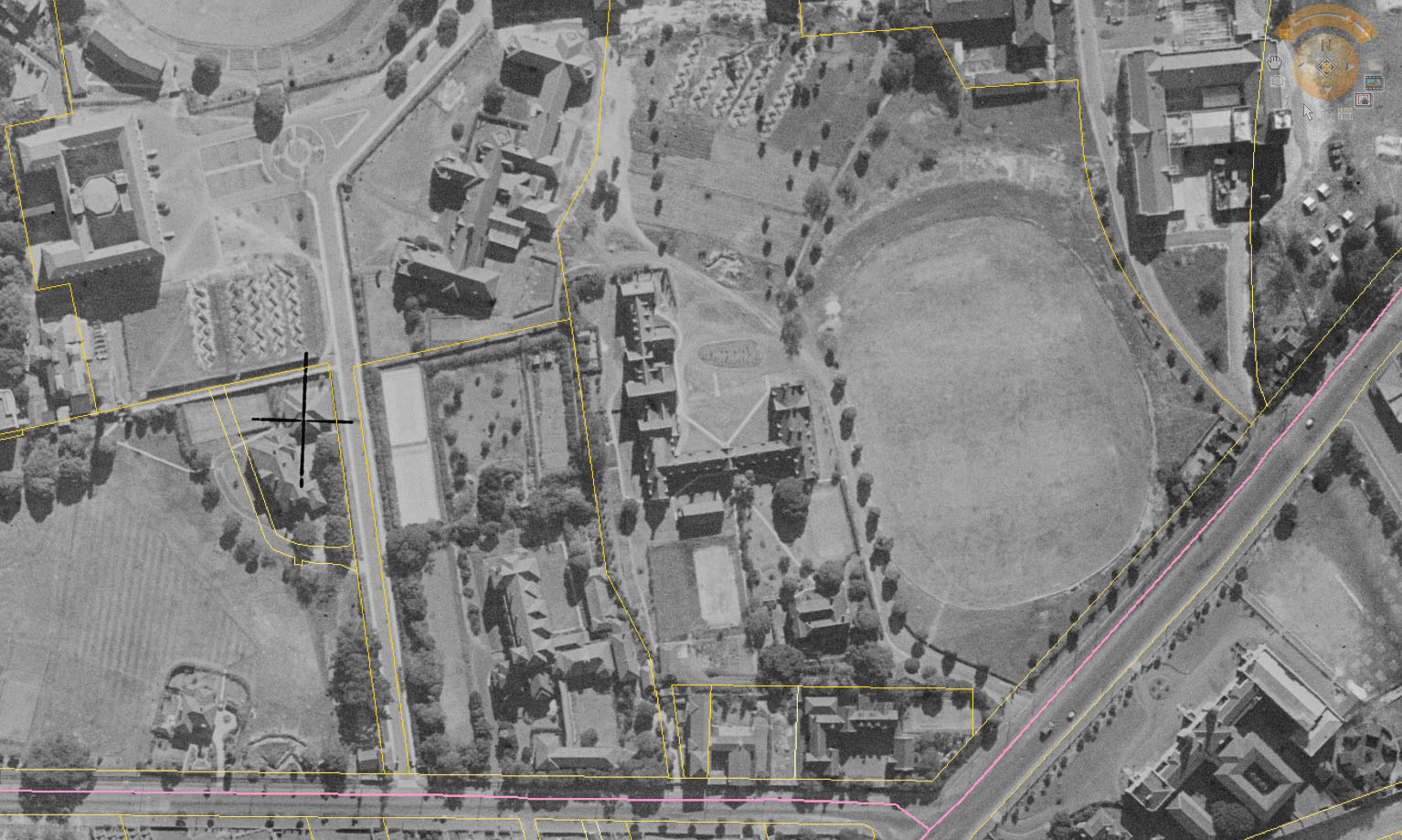 1943 aerial view of St Paul's College