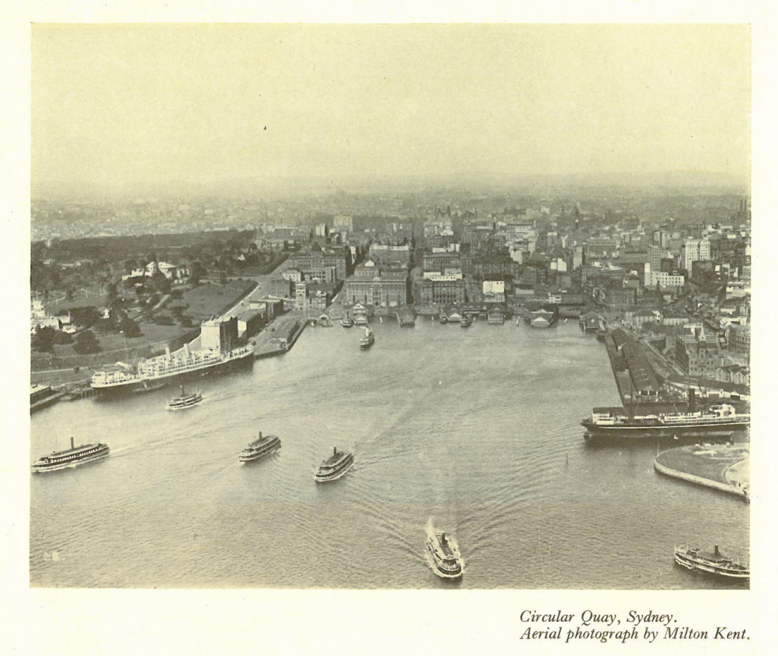 City of Sydney from above, circa early 1920's (Source: Australia Beautiful 1928, Photograph by Milton Kent)